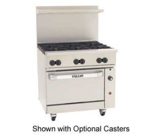 Vulcan 36C-6B Endurance Natural Gas Restaurant Range w/ 6 Burners Vulcan Stainless Steel Range
