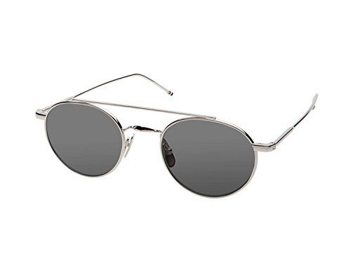 Sunglasses THOM BROWNE TB 101 A-T-SLV Shiny Silver w/ Dark - Sunglasses Browne Thom
