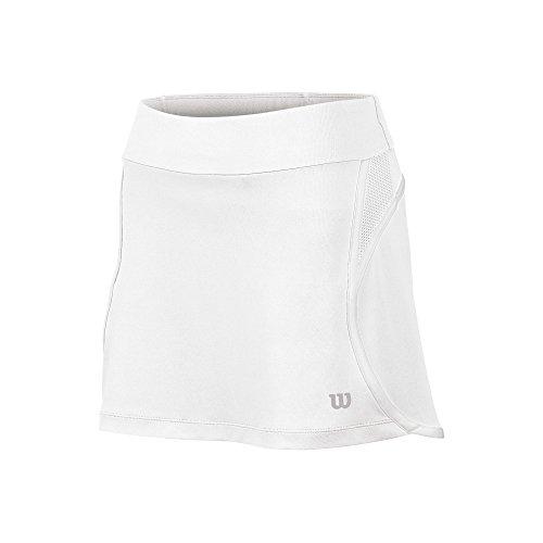 (Women`S Sporty 12.5 Inch Tennis Skort White)
