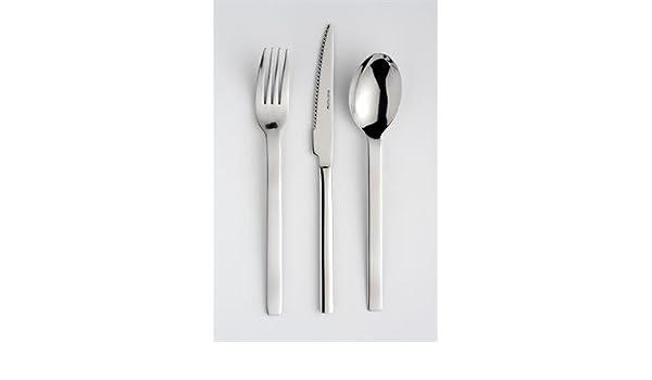 Cuchara de mesa Diva en acero inoxidable 18.0 de 2 mm - Eternum - - Juego de 6: Amazon.es: Hogar