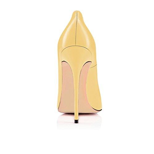 Talon Talons Jaune Escarpins Pu Grande Femmes Stilettos Femme Ubeauty Chaussures Taille Haut 120mm Aiguille AXUwn6vqx