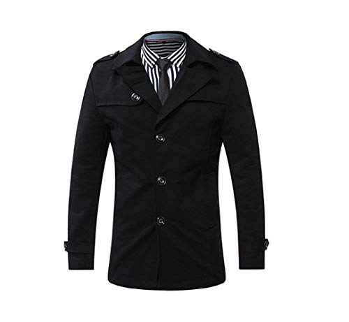 Turn Fashion Slim BOLAWOO Coat Long Jacket Coat Parka Sleeve Brands Trench Schwarz Collar Casual Fit Winter Down Men's Short Coat Classic qxaAxS
