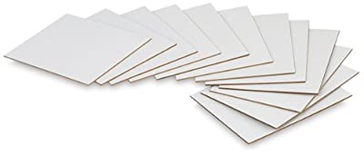 Artist Painting Panel Bulk Pack White Flat ready to paint linen texture board