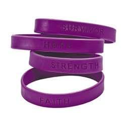 Amazon Com 100 Purple Silicone Pancreatic Cancer