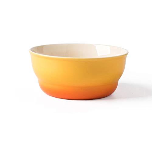Ceramic Bowl Salad Plate Fruit and Vegetable Pasta Soup Porcelain Bowl Snacks Dessert Sugar Bowl 17.5x7.5cm (Color : PURPLE) (Color : Yellow)