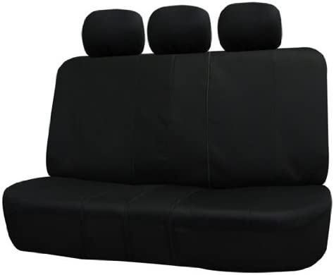 FH Group FB051BLACK013 Black Universal Split Bench Seat Cover (Allow Right and Left 40/60 Split