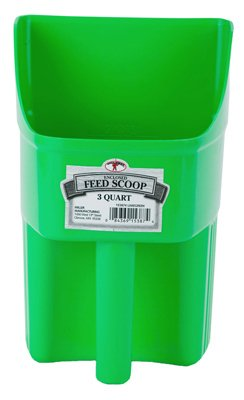 American Distribution & Mfg 153874 Feed Scoop, Enclosed, Lime Green Plastic, 3-Qts. - Quantity ()