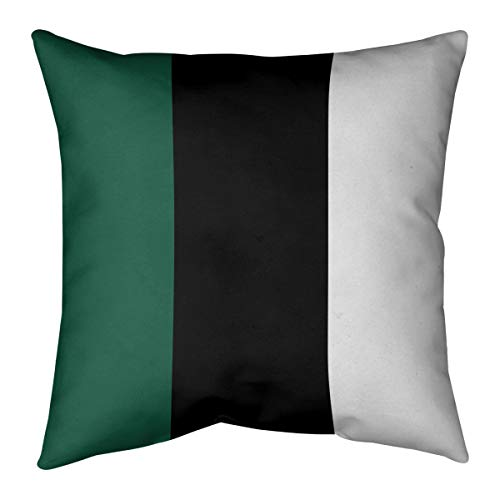 ArtVerse Katelyn Smith 20 x 20 Spun Polyester New York Outline Pillow
