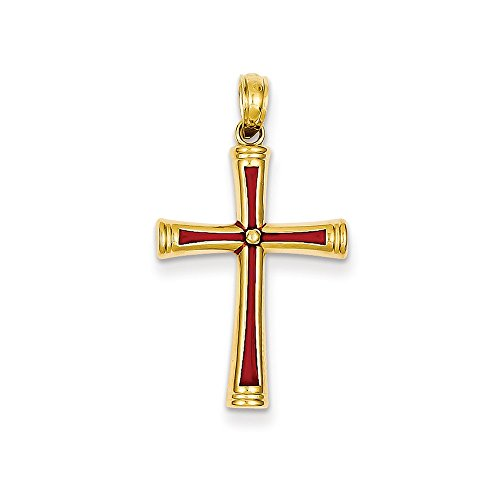 - Jewelry Pendants & Charms Themed Charms 14K Red Acrylic Cross Pendant