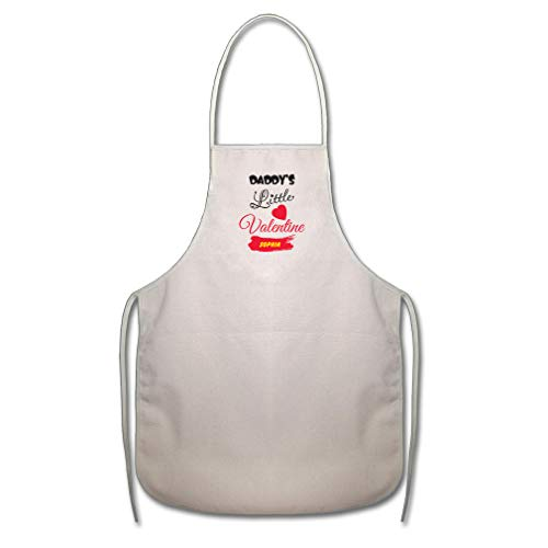 Personalized Apron Valentine (Personalized Custom Daddy's Little Valentine Cotton Canvas Duck Cooking Apron)