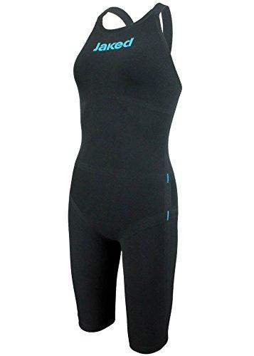 Jaked J-Keel Knee Suit Open Back Black/Turquoise イギリスサイズ26   B0716YVD73