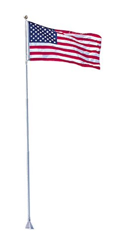 Dock Edge Flexi-Flag Pole, 18' - Includes USA Flag by Dock Edge