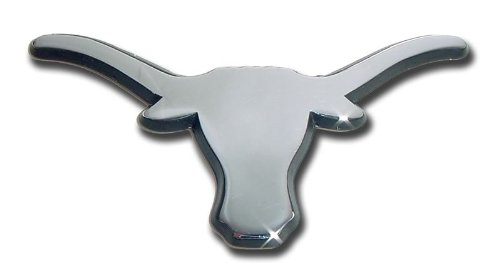 NCAA Texas Longhorns Chrome Auto Emblem Decal Chrome Auto Car Emblem
