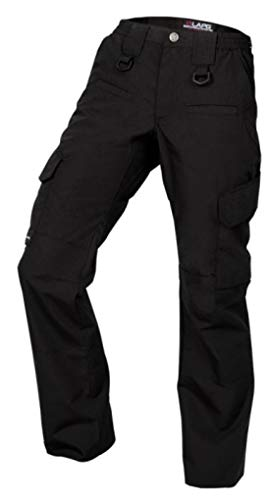LA Police Gear Women's Operator Pant with 8 Pockets and Elastic Waist (Black, 8-Short) from LA Police Gear