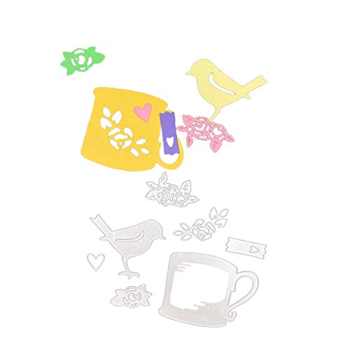 POQOQ Cutting Dies Scrapbooking Paper Card Metal Die Cut Stencils #190313A, Accessories for Big Shot and Other Cutter Machine(K)