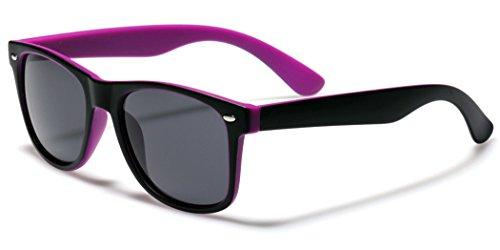 Classic Retro Fashion 2 Tone Sunglasses - Black & - Tone Sunglasses Two