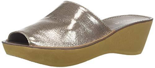 Kenneth Cole REACTION Women's Fine Mule Platform Slide Sandal Wedge, Rose Gold 8 M US