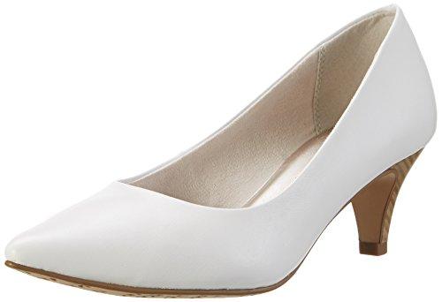Tamaris 22445, Zapatos de Tacón para Mujer Blanco (WHITE MATT 108)