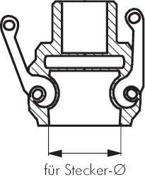 Edelstahl Gewinde:Rp 3//4 1.4408 1.4408 Kamlock-Kupplung Rp 3//4 Werkstoff:Edelstahl D IG