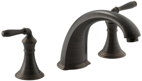 Kohler K-T398-4-2BZ Devonshire Deck/Rim Mount High-Flow Bath Faucet Trim, Oil Rubbed Bronze ()