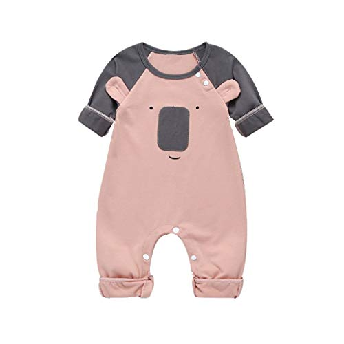 Boy Gypsy Costume (Aunimeifly Infant Cute Bear Cartoon Romper Baby Long Sleeve Jumpsuit Boys&Girls Clothes Unisex Cotton)
