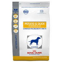 Royal Canin Veterinary Diet Canine Potato & Duck (PD) Adult Selected Protein Dry Dog Food 17.6 lb bag For Sale