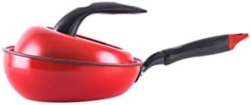 Yougou001 フライパン、平底フライパン、Maifanストーンコーティング、焦げ付き防止パン、アルミ合金材料、8インチレッド 洗練されたエレガント (Color : Red)