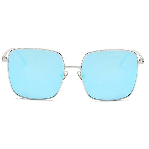 box flat mirror's wild marine sunglasses,Silver frame ice ()