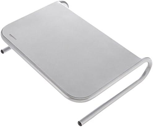 AmazonBasics – Supporto per monitor in metallo argento
