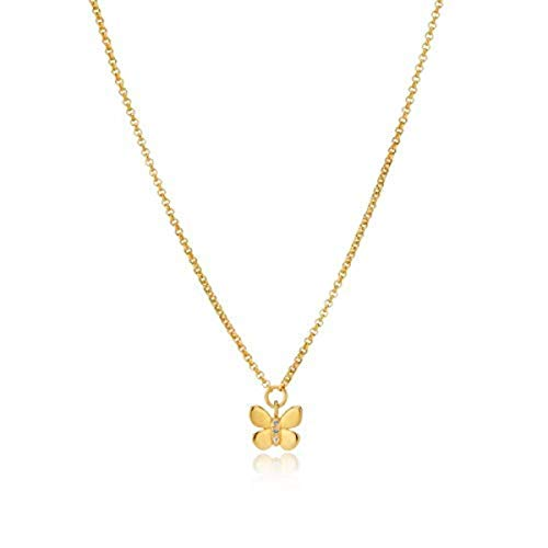Molly B London | 18ct Gold Vermeil & White Topaz Monarch Butterfly Necklace