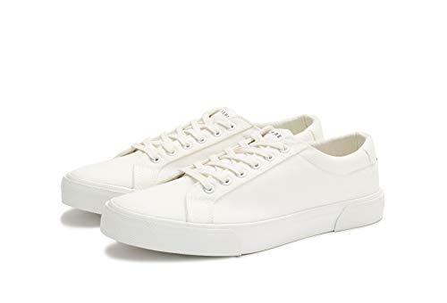 White Canvas Sneakers - New Republic Men's Ellroy Canvas Sneaker - White (10)