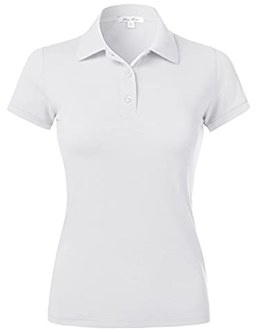 Plus Size Solid Color Jersey Slim Fit Short Sleeve Sport Plain Basic Polo Top Shirts