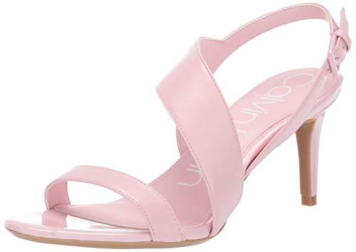 Calvin Klein Women's LANCY Heeled Sandal, Pastel Pink, 8.5 M US