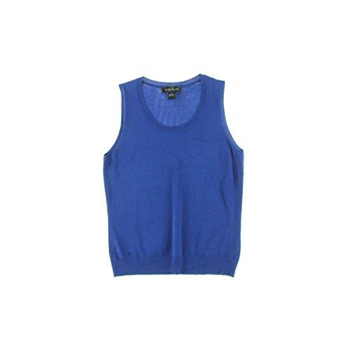 Jewel Neck Shell (August Silk Womens Silk Blend Jewel Neck Pullover Sweater Blue XL)