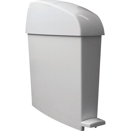 Rubbermaid Commercial Sanitary Step Trash Can, Rectangular, 3-Gallon, White (Sanitary Bin)