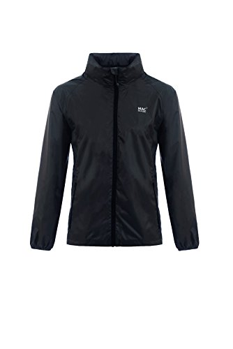 (Mac in a Sac Unisex Origin Waterproof Packable Jacket L Jet Black)