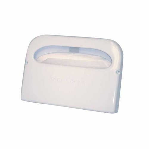 Toilet Seat Cover Dispenser - Excellante Half Fold Toilet Seat Cover Dispenser, White Plastic 16-Inch by 11-1/2-Inch by 3-Inch