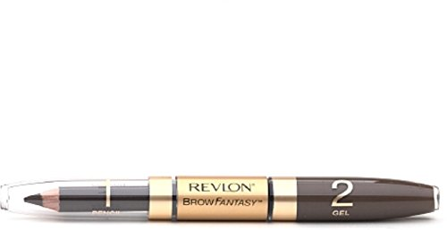 Revlon Brow Fantasy Pencil & Gel, Dark Brown [106], 1 ea (Pack of 3)