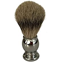 Shaving Brush By Apollo, 100% Best Silvertip Badger Bristle with Chrome Handle Will Fit the Apollo Stand and Is a Great Addition to Your Vet Shaving Set/kit. Works up a Great Lather From Your Soap/ Cream/ Butter to Ensure a Great Shave with Your Double Edge Safety Razor. Great Gift Idea in Addition to a Shaving Bowl/ Mug/ Stand or Razor.