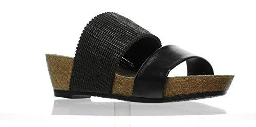 Munro New Womens Riviera Black Shimmer Slides Size 6