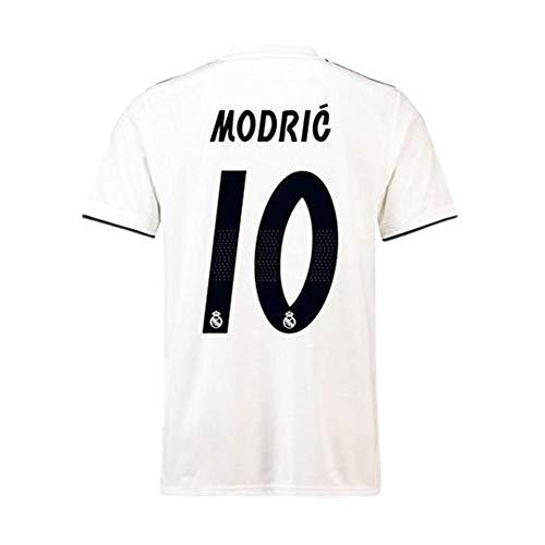 Real Madrid  10 Luka Modric 2018-2019 Season Home Soccer Jersey Mens Color  White Size S c9fa893ab