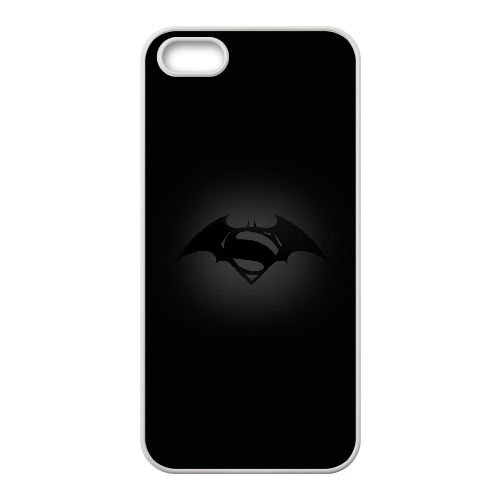 K5L93 Batman Superman Logo S6C7LG iPhone 4 4S Handy-Fall Hülle Abdeckung weiß DC7WMF3BV