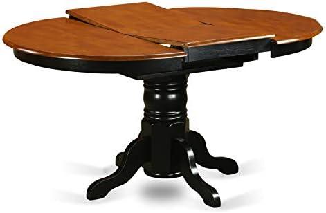 home, kitchen, furniture, living room furniture, tables,  pedestal tables 4 picture East West Furniture AVT-BLK-TP Butterfly leaf in USA