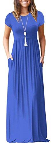 Scoop Summer Line A Short Womens Jaycargogo Beach Neck Dress Maxi Sleeve 1 qBOFp1x