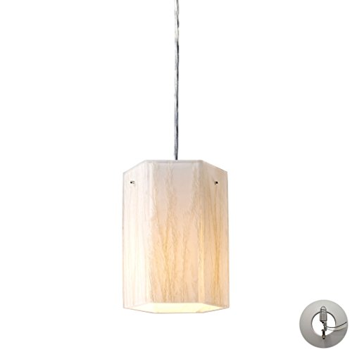 Modern Organics-1-Light Pendant In White Sawgrass Material In Polished Chrome Includes An Adapter Kit To Allow For Easy Conversion Of A Recessed Light To A - In Sawgrass Stores