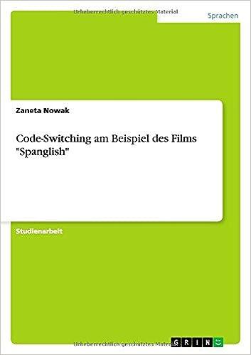 Book Code-Switching am Beispiel des Films 'Spanglish'