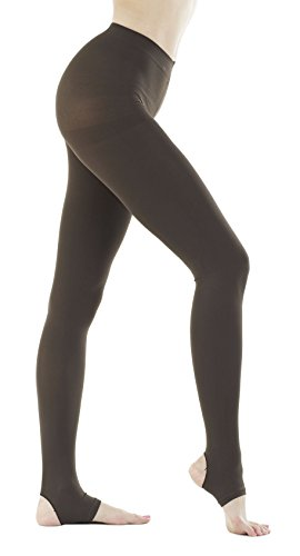 Womens Denier Stirrup Pantyhose Tights