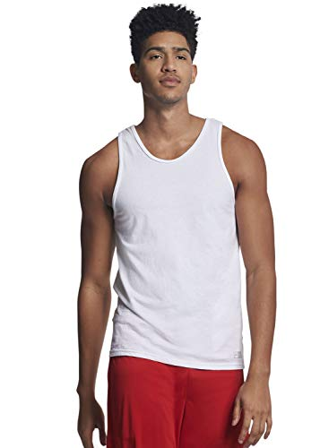 Russell Athletic Men's Essential Tank, White, L (Athletic T-shirt Russell Ribbed)