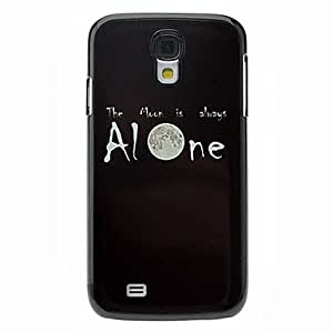 Letter Alone Pattern Aluminum Hard Case for Samsung Galaxy S4 I9500