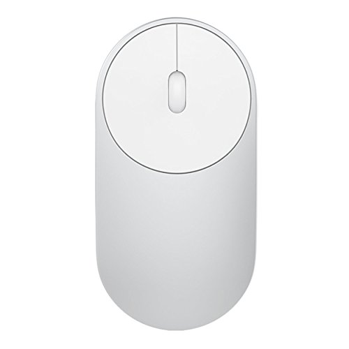 Rf Silver Wireless Optical Mouse (Xiaomi MI Portable Mouse Wireless Mini Mouse Optical Bluetooth 4.0 RF 2.4GHz Dual Mode Connect 1200DPI For Laptop Video Game)